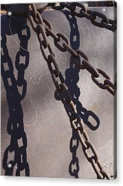 Vintage Metal Chains Acrylic Print by Ann Powell