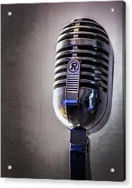Vintage Microphone 2 Acrylic Print by Scott Norris