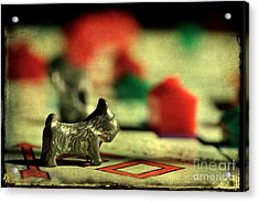 Vintage Monopoly Acrylic Print by Michael Eingle