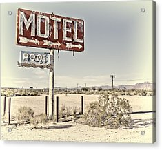 Acrylic Print featuring the photograph Vintage Motel Pool Sign by Gigi Ebert