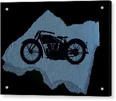 Vintage Motorcycle Acrylic Print by David Ridley