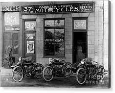 Vintage Motorcycle Dealership Acrylic Print