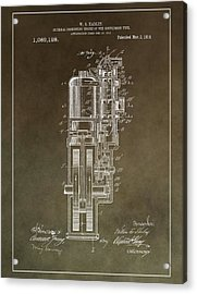 Vintage Motorcycle Engine Patent Acrylic Print