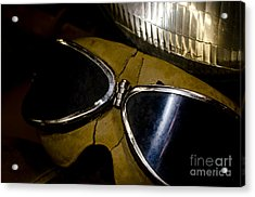 Vintage Motorcycle Goggles Acrylic Print by Wilma  Birdwell
