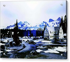 Vintage Mount Rainier Camp And Store Supplies Early 1900 Era... Acrylic Print