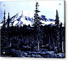 Vintage Mount Rainier Early 1900 Era... Acrylic Print