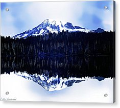 Vintage Mount Rainier From Reflection Lake Early 1900 Era... Acrylic Print