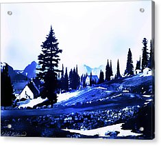 Vintage Mount Rainier Lodge Early 1900 Era... Acrylic Print