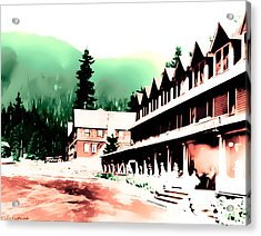 Vintage Mount Rainier National Park Inn Early 1900 Era... Acrylic Print
