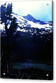 Vintage Mount Rainier With Reflexion Lake Early 1900 Era... Acrylic Print by Eddie Eastwood
