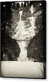 Vintage Multnomah Falls Acrylic Print