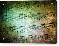 Vintage Music Sheet Acrylic Print by Carlos Caetano