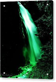 Acrylic Print featuring the photograph Vintage Narada Falls Early 1900 Era... by Eddie Eastwood