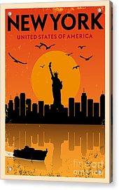 Vintage New York Poster Acrylic Print