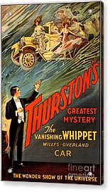 Vintage Nostalgic Poster - 8034 Acrylic Print by Wingsdomain Art and Photography