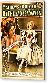 Vintage Nostalgic Poster - 8035 Acrylic Print by Wingsdomain Art and Photography