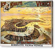 Vintage Nostalgic Poster - 8054 Acrylic Print by Wingsdomain Art and Photography