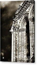 Vintage Notre Dame Details Acrylic Print by John Rizzuto