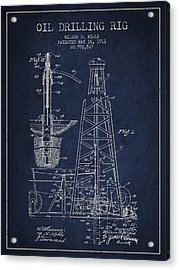 Vintage Oil Drilling Rig Patent From 1911 Acrylic Print by Aged Pixel
