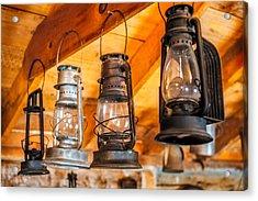 Vintage Oil Lanterns Acrylic Print