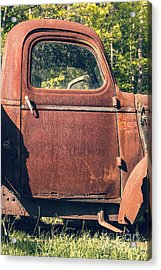 Vintage Old Rusty Truck Acrylic Print by Edward Fielding