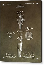 Vintage Ophthalmoscope Patent Acrylic Print