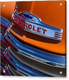 Vintage Orange Chevrolet Acrylic Print