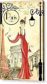 Vintage Paris Woman Acrylic Print