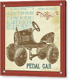 Vintage Pedal Car Acrylic Print by Jo Moulton