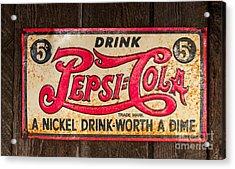Vintage Pepsi Cola Ad Acrylic Print