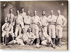 New York Metropolitans Baseball Team Of 1882 Acrylic Print
