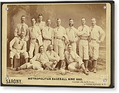 Vintage Photo Of Metropolitan Baseball Nine Team In 1882 Acrylic Print