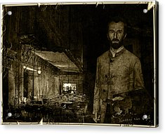 Vintage Photograph Of Vincent At The Cafe Terrace In Arles France In 1888. Acrylic Print
