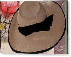 Vintage Picture Hat Acrylic Print by Kathleen Struckle