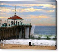 Vintage Pier Acrylic Print by Joe Schofield