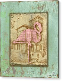 Vintage Pink Flamingo-2 Acrylic Print