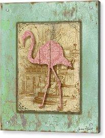 Vintage Pink Flamingo-3 Acrylic Print
