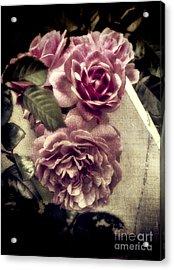 Vintage Pink Sisters Acrylic Print