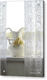 Vintage Pitcher On Windowsill Acrylic Print