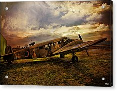 Vintage Plane Acrylic Print by Evie Carrier
