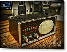 Vintage Police Scanner Acrylic Print by Paul Ward
