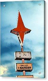 Vintage Pop Art Sign Acrylic Print by Sophie Vigneault