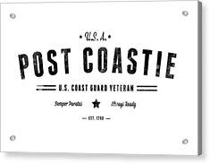 Vintage Post Coastie Acrylic Print by Tom DiFrancesca