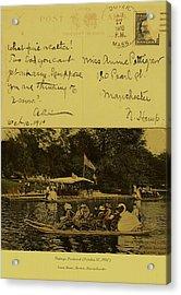 Vintage Postcard  October 10 1910 Acrylic Print