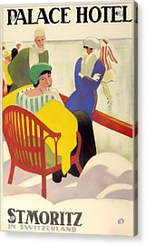 Vintage Poster 1936 Acrylic Print by Mountain Dreams