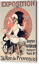 Vintage Poster Advertising An Art Exhibition Acrylic Print by Jules Cheret