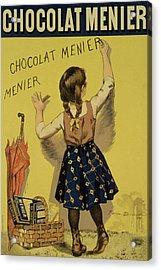 Vintage Poster Advertising Chocolate Acrylic Print