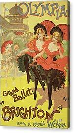 Vintage Poster   Brighton Acrylic Print by Pal