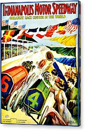 Vintage Poster - Sports - Indy 500 Acrylic Print by Benjamin Yeager