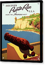 Vintage Puerto Rico Travel Poster Acrylic Print